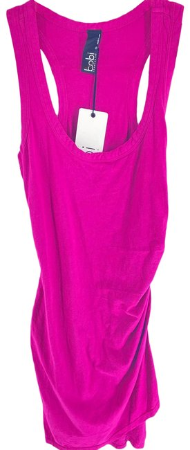 Item - Purple Jersey Smoothie Fuschia Pink Ruched Tank Womens Small Short Casual Dress Size 4 (S)