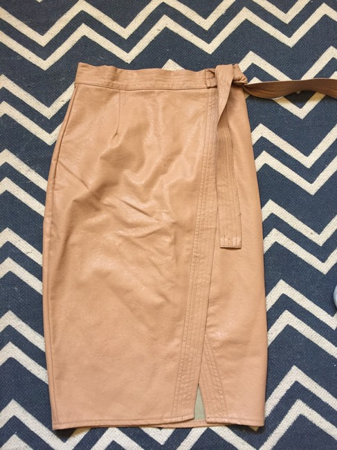 Item - Tan Faux Leather Skirt Size 8 (M, 29, 30)