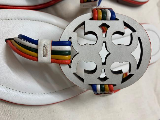 Tory Burch New Ivory/Multi Mignon Miller Calf Leather Sandals Size US 7 Regular (M, B) Tory Burch New Ivory/Multi Mignon Miller Calf Leather Sandals Size US 7 Regular (M, B) Image 5