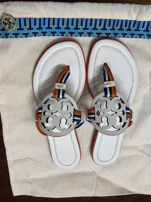 Tory Burch New Ivory/Multi Mignon Miller Calf Leather Sandals Size US 7 Regular (M, B) Tory Burch New Ivory/Multi Mignon Miller Calf Leather Sandals Size US 7 Regular (M, B) Image 8
