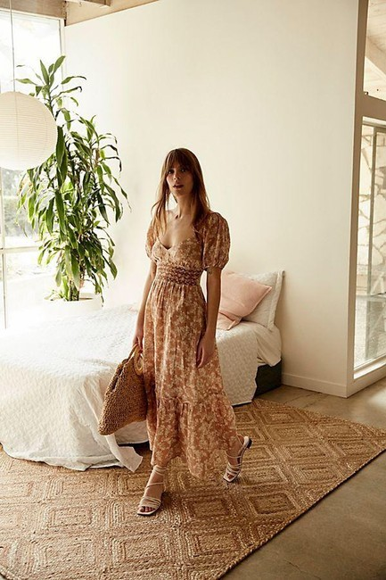 Item - Neutral Ellie Printed Long Casual Maxi Dress Size 10 (M)