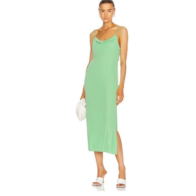 Item - Radiated Green Back Knot Maxi Night Out Dress Size 4 (S)