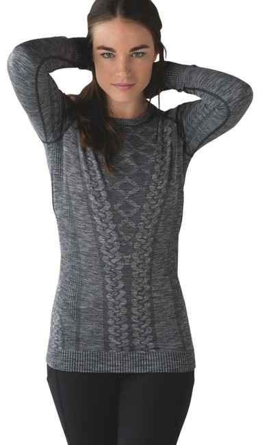 Item - Heathered Black Restless Pullover Activewear Top Size 6 (S)