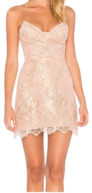 Item - Rose Gold Bumble Bustier Short Night Out Dress Size 8 (M)