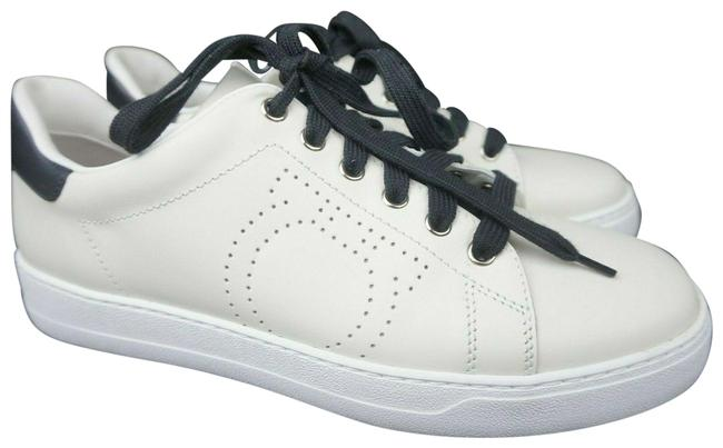 Item - White Pierre Leather Women's Sneakers Size US 9 Wide (C, D)