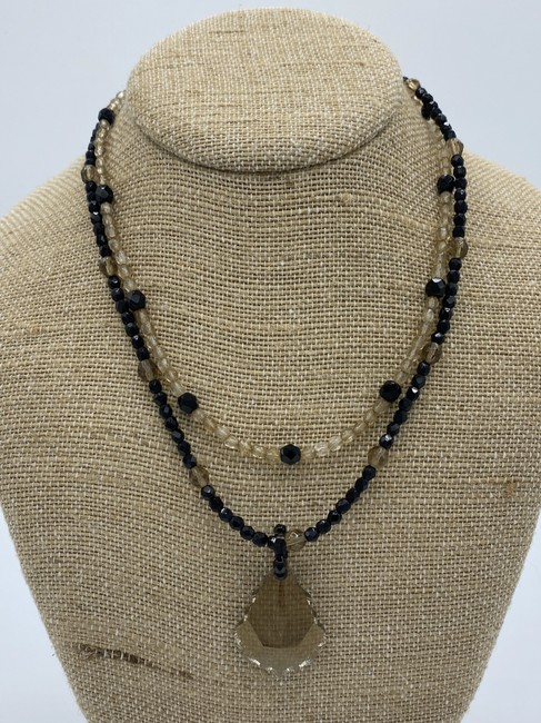 Item - Black and Gold Crystal Necklace