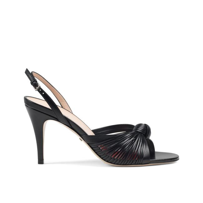 Item - Black 'crawford 85' Knotted Leather Heels Sandals Size EU 40.5 (Approx. US 10.5) Regular (M, B)