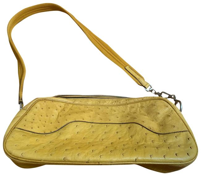 Item - Yellow Ostrich Leather Shoulder Bag