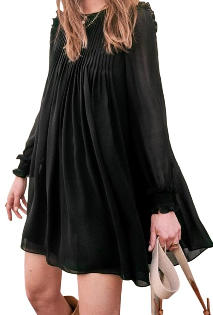 Item - Robe Eve Black Pleated Short Night Out Dress Size 4 (S)