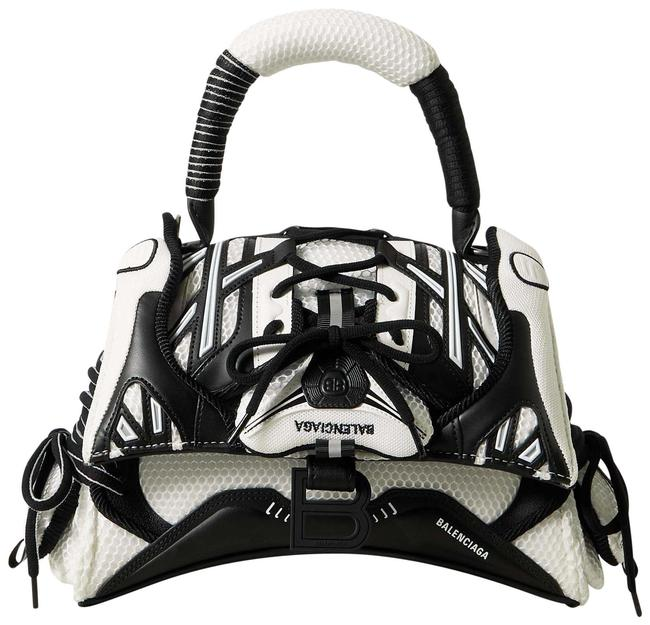 Item - Hourglass Sneakerhead Small Black Mesh and Leather Tote