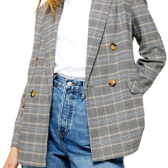 Item - Brown Plaid Double Breasted Blazer Size 2 (XS)