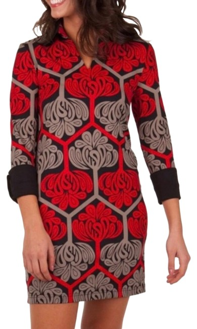 Item - Red and Black Lana Short Casual Dress Size 2 (XS)