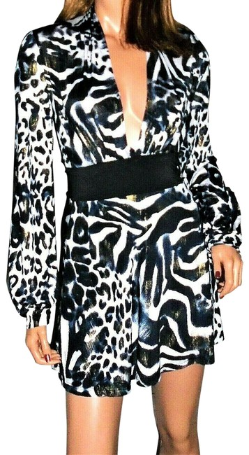 Item - Multi Colored Animal Print S Short Night Out Dress Size 4 (S)