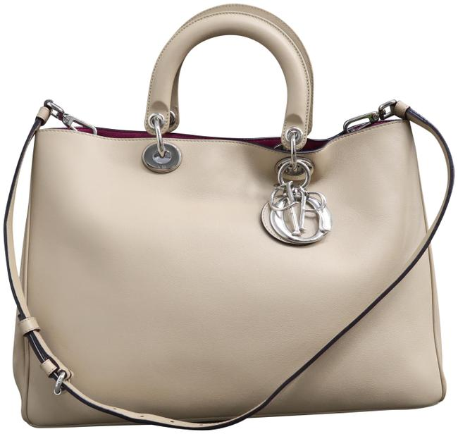 Item - W Christian Large W/P issimo Wheat Calfskin Leather Satchel