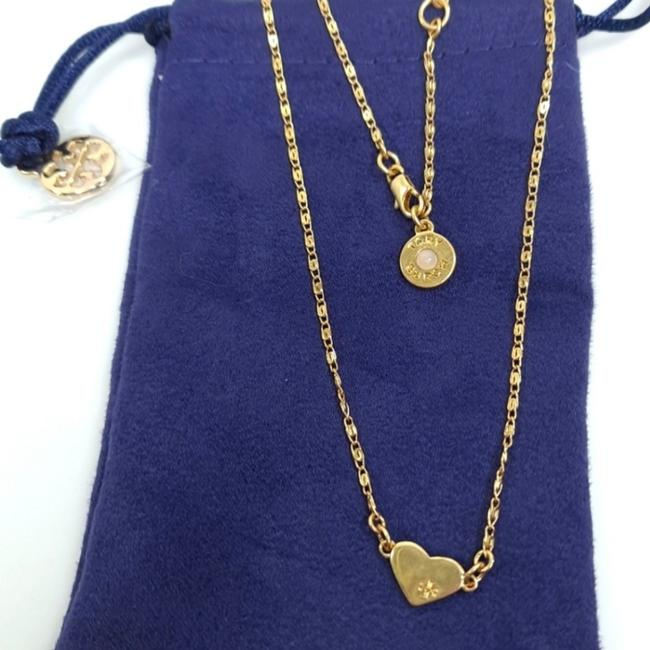Item - Gold Heart Hammered Metal New Necklace