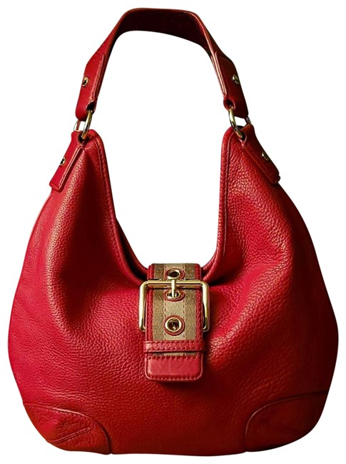 Item - Leather Red Hobo Bag
