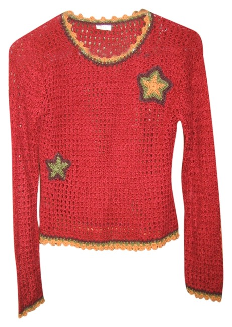 Preload https://item5.tradesy.com/images/red-unique-knit-summer-polyester-sweaterpullover-size-8-m-2953294-0-0.jpg?width=400&height=650