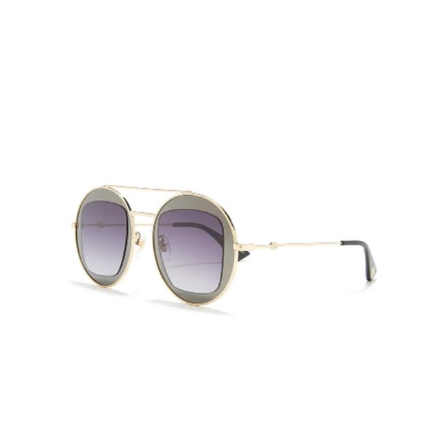 Item - Gray 47mm Cutout Double Frame Round Sunglasses
