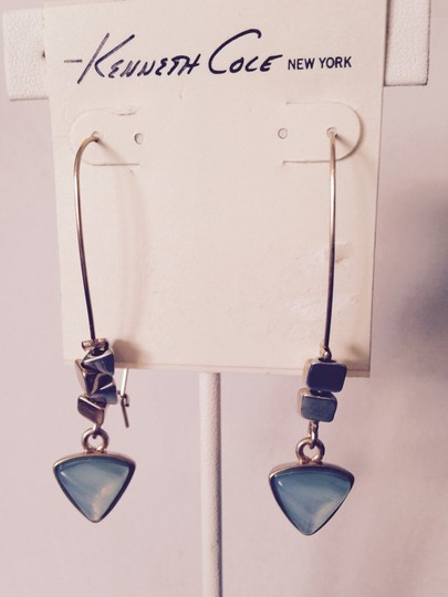 Kenneth Cole Kenneth Cole Turquoise Crystal & Triangle Bead Earrings Only! Matching Pieces Sold Seperately.