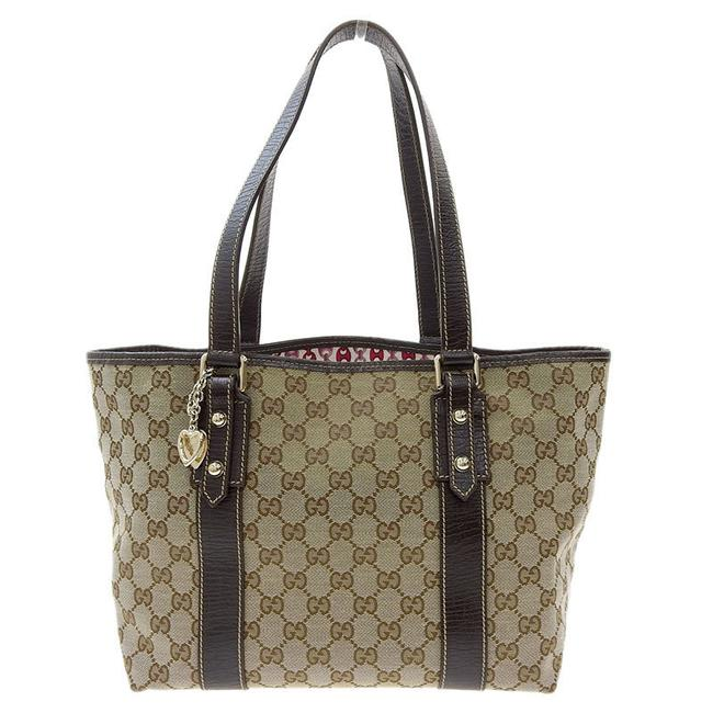 Item - Bag 170898 Brown Gg Canvas / Leather Tote