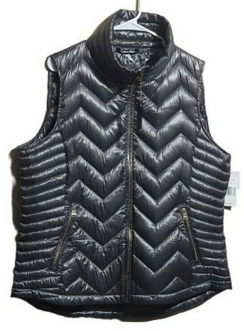 Item - Gray Performance Women's Quilted Funnel Neck Vest Size 24 (Plus 2x)