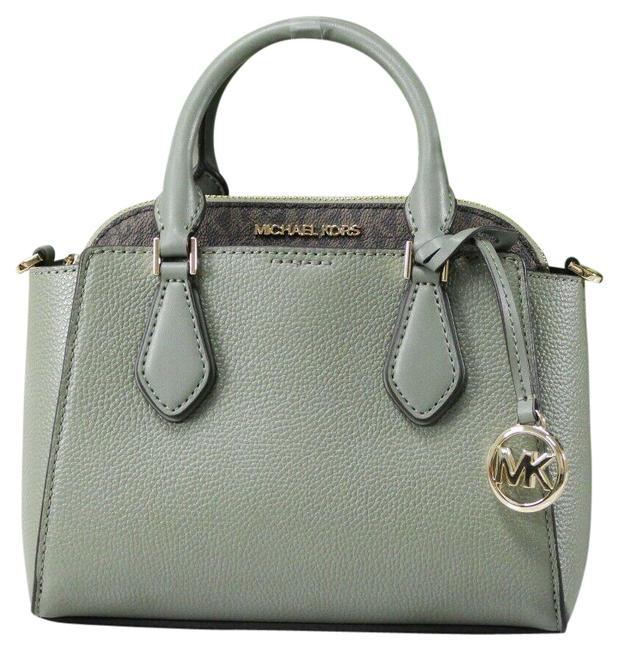Item - Crossbody Daria Small 2-in-1 Dome Army Green Pebble Leather Pvc Satchel