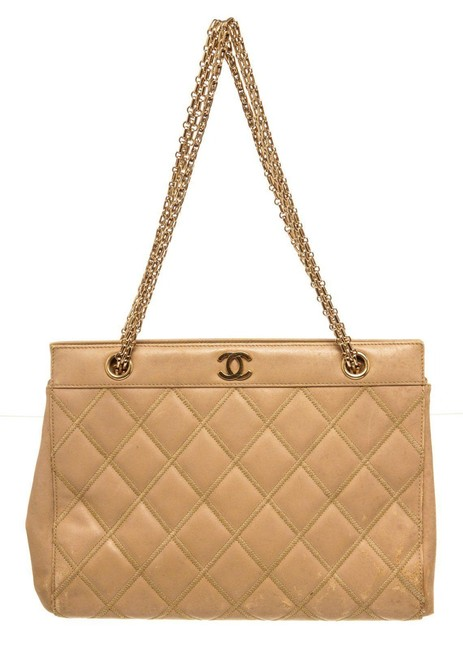 Item - Bag Cc Chain Beige Leather Tote