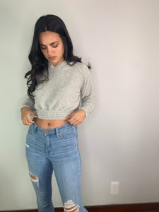 Missguided Hoodie Soft Sweater