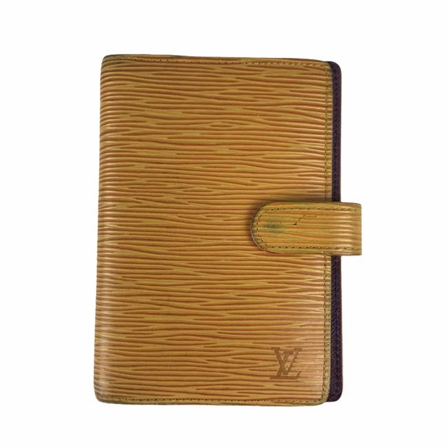 Item - Yellow Epi Leather Agenda Cover Wallet
