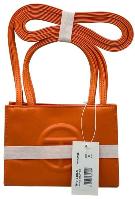Item - Shopping Small Orange Faux Leather Cross Body Bag