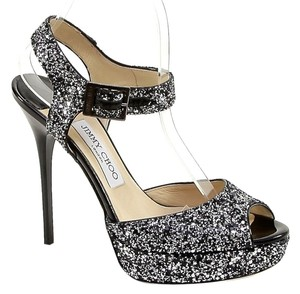 Jimmy Choo Black, Silver Platforms