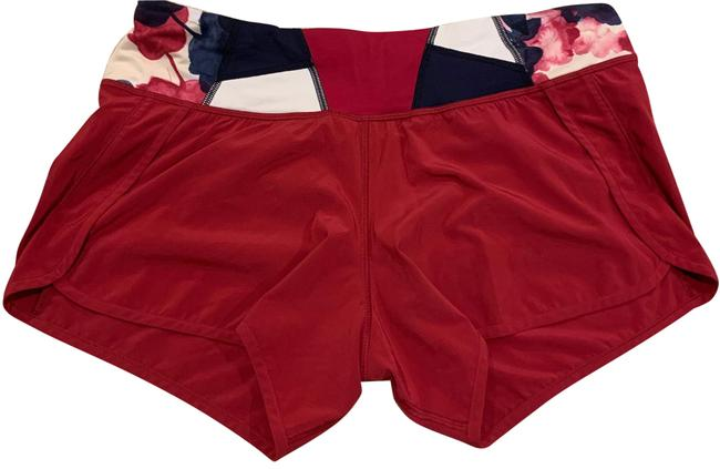 """Item - Red Speed Up Low-rise 2.5"""" Activewear Bottoms Size 8 (M)"""