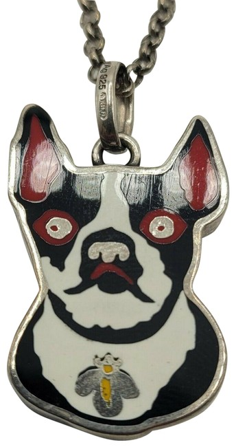 Item - Silver Aged with Bosco & Orso Pendant 502439 8523 Necklace