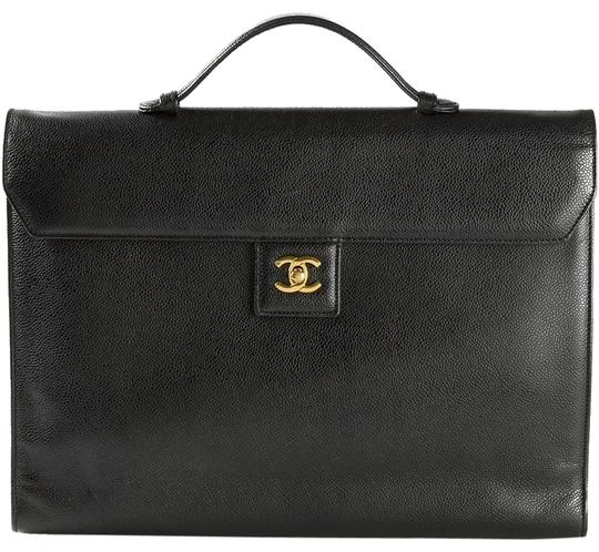 Chanel Briefcase Vintage Rare Laptop Bag Image 0