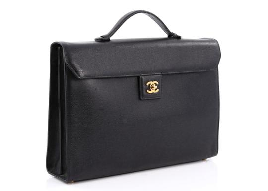 Chanel Briefcase Vintage Rare Laptop Bag Image 1