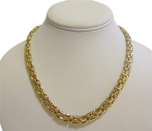 Veronese Collection Veronese Collection Reversible High Polish Byzantine 18 Inch Necklace with Spring Ring Clasp