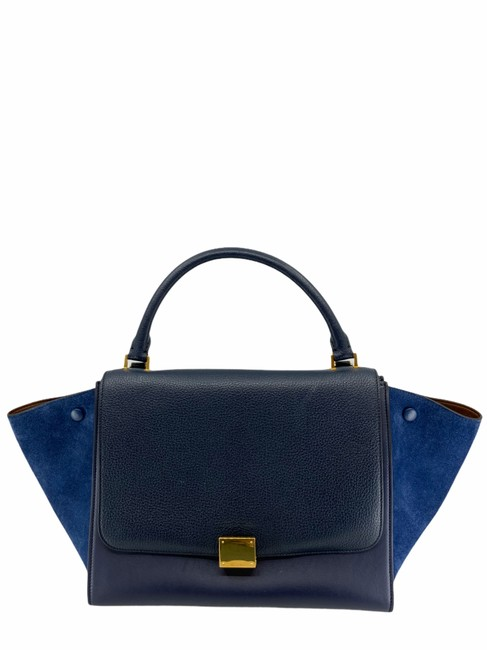 Item - Trapeze Blue Leather Tote