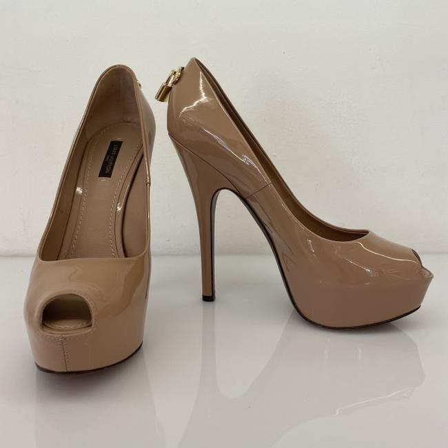 Item - Ligth Beige Pink Nude Patent Leather Oh Really Peep-toe Pumps Size EU 38.5 (Approx. US 8.5) Regular (M, B)
