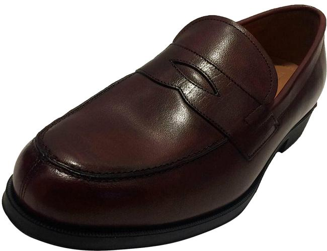 Item - Red Men's Nait Cordovan Leather Penny Loafer Flats Size US 12 Regular (M, B)