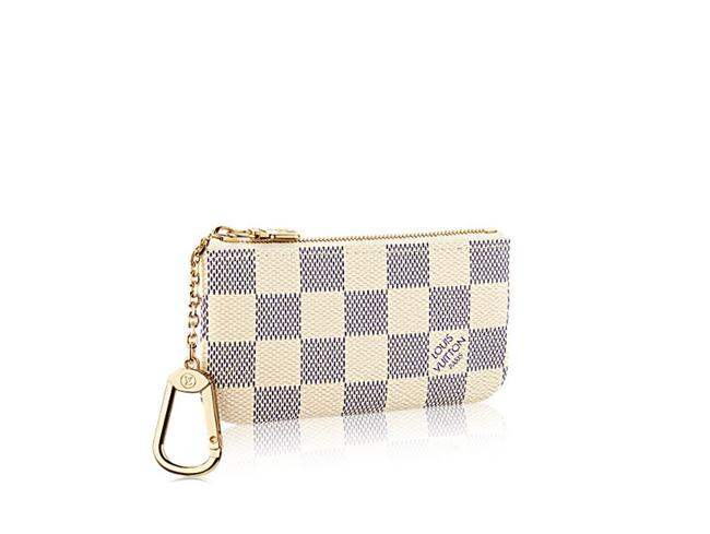 Item - White New Cles Damier Azur Key and Credit Card Pouch Wallet