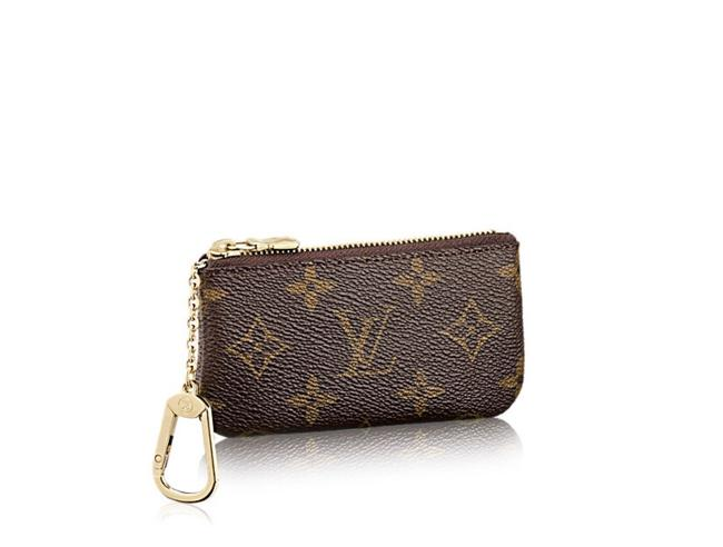 Item - Brown New Monogram Key and Credit Card Pouch Cles Wallet