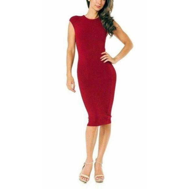 Item - Terracotta Red Bodycon Mid-length Night Out Dress Size 12 (L)