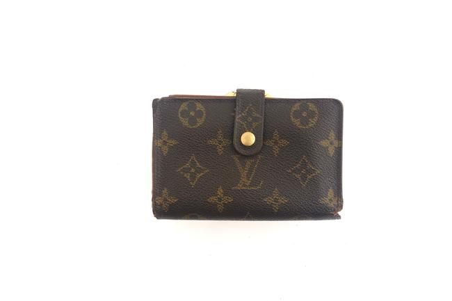 Item - Brown Clutch Monogram Canvas and Leather Compact French Kisslock Wallet