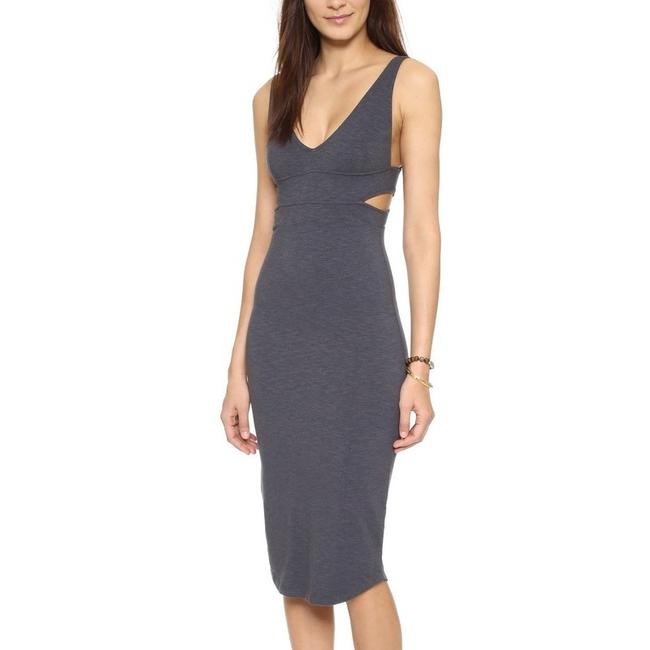 Item - Grey Cut Out Mid-length Short Casual Dress Size 4 (S)