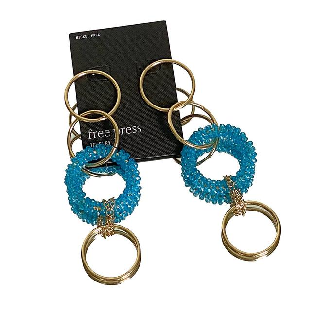 Item - Gold Turquoise Ring Drop Earrings
