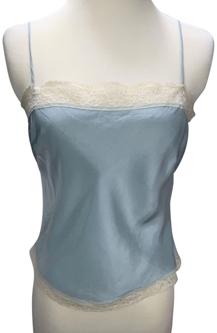 Item - Blue Lace Trim Sleeveless Camisole Tank Top/Cami Size 6 (S)