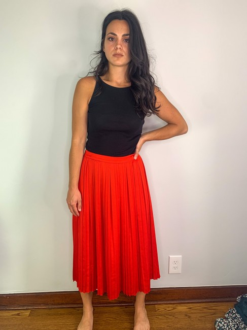 Item - Red Pleated Skirt Size 2 (XS, 26)