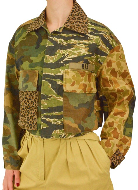 Item - Camo Brown XS Leopard And Jacket Size 2 (XS)