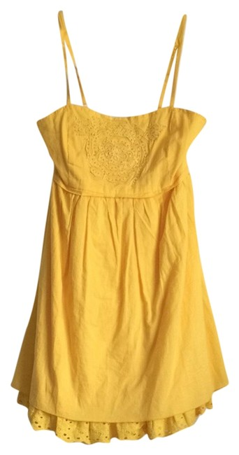 Item - Yellow Short Casual Dress Size 4 (S)