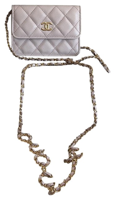 Item - Wallet on O Purse with Chain Light Purple Leather Cross Body Bag